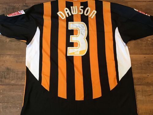 2005 2006 Hull City Dawson Player Issue Home Football Shirt